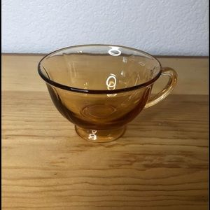 Amber Colored Tea Cup